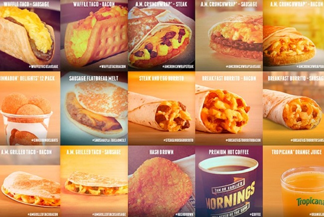 taco bell breakfast hours and taco bell breakfast menu